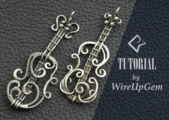 Wire Wrap Tutorial | DIY Wire Wrapping | TUTORIAL Violin Pendant | With this tutorial you will learn how to make a Beautiful Violin Pendant, as shown in the cover picture, without soldering and using only your hands and a few basic tools. You can use the same pattern to make a soldering