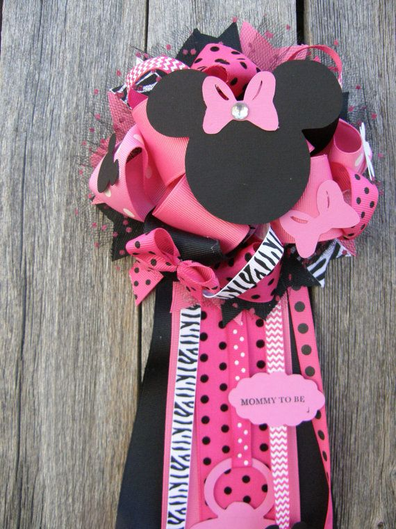 Minnie Mouse Baby Shower Corsage Minnie Baby Shower By Bonbow