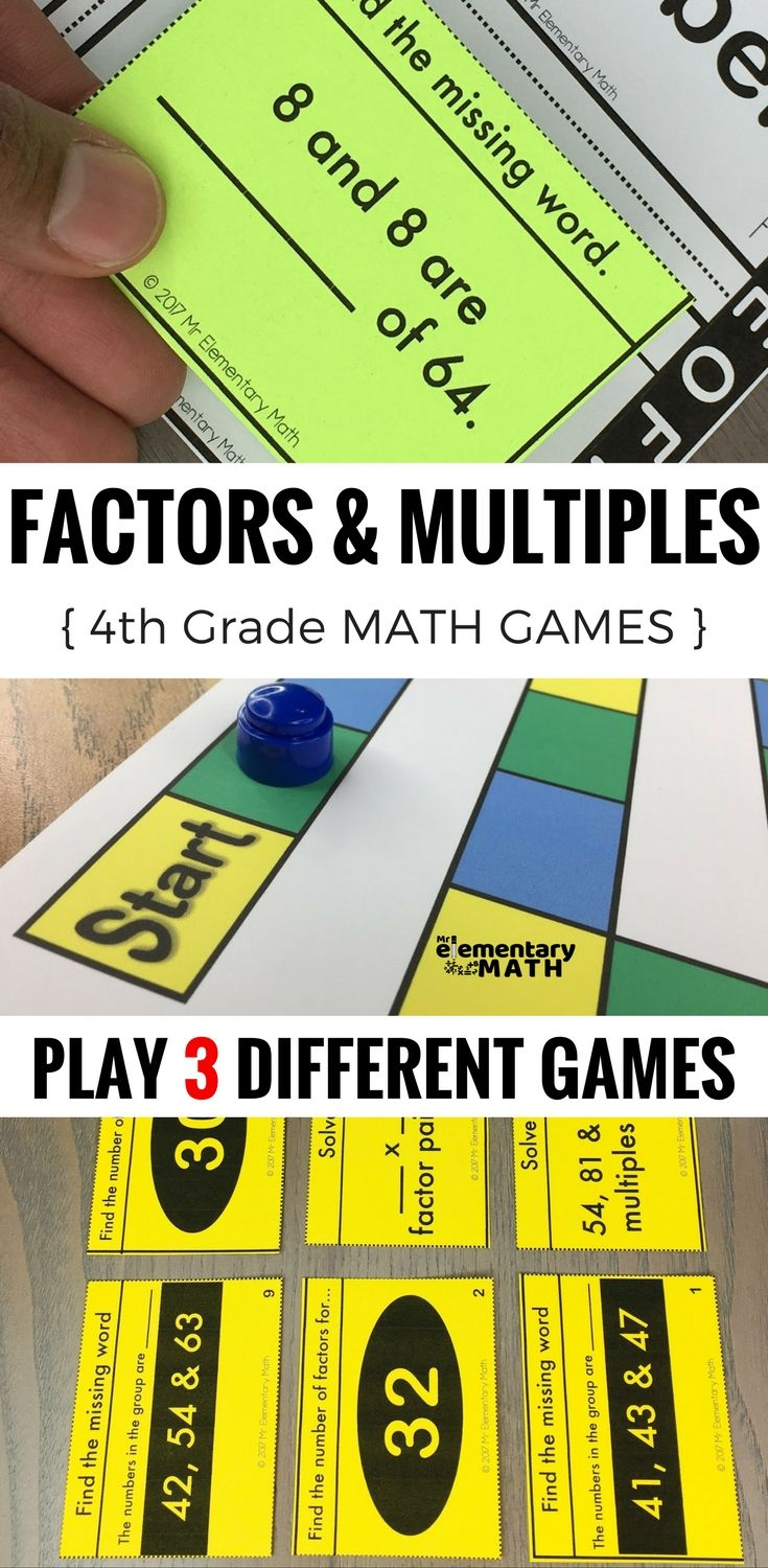 Best 25 factors and multiples ideas on pinterest factors 4th grade factors multiples prime and composite number games and centers robcynllc Image collections