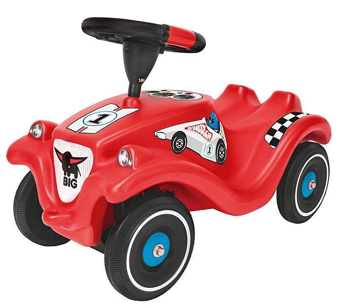 Mit der BIG-Bobby-Car Racing Edition 2015 wird jeder Fahranfänger im Nu zum mutigen Rennfahrer #bobbycar #auto #weltbild