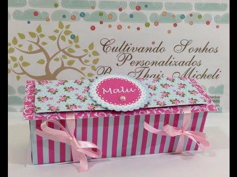 Santa Receita | Caixa para doces em cartonagem por Márcia Regina - 13 de Março de 2015 - YouTube