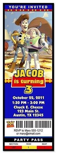 Custom Toy Story Ticket Invitation, Design Online!