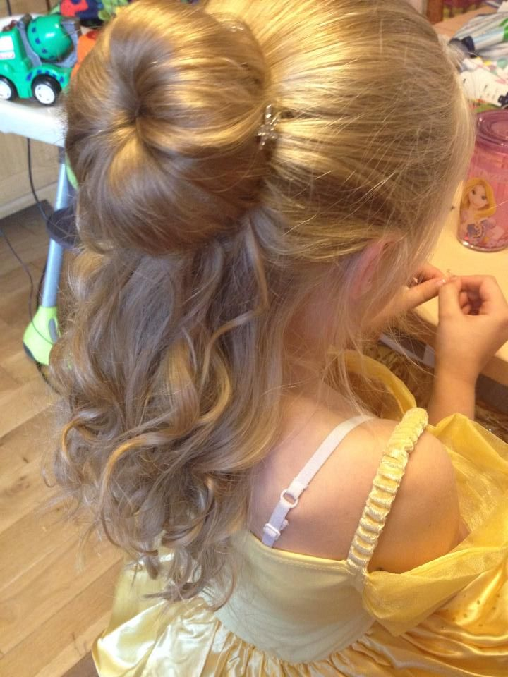 Princess Belle Inspired Hairstyle Super Pretty A Bun