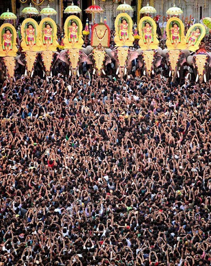 Thrissur Pooram (temple festival), Kerala, India.