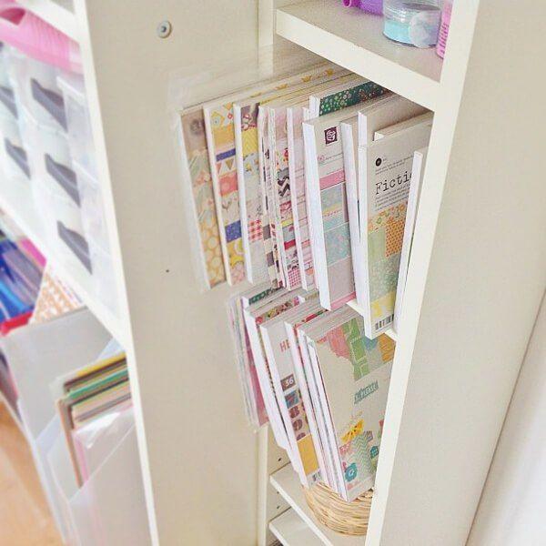 1076 besten craft storage ideas bilder auf pinterest for Ikea paper holder storage