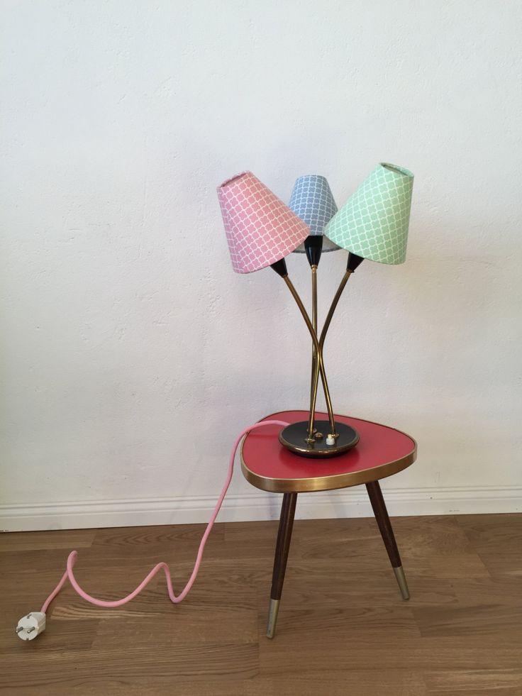 50er Jahre Tischlampe Schreibtischlampe Kleine Stehlampe Retro Rockabilly Ttenlampe Leselampe Von MehrSchein Auf Etsy