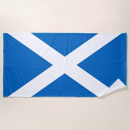 Flag of Scotland or Saltire Beach Towel - home decor design art diy cyo custom