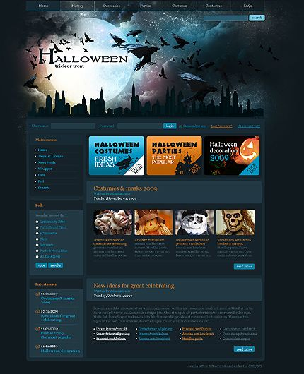 Joomla #template // Regular price: $55 // Unique price: $2650 // Sources available: .PSD, .PHP #Website #Halloween #Wide #Joomla