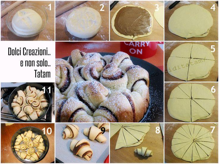 torta pan brioche passo passo, come fare danubio dolce