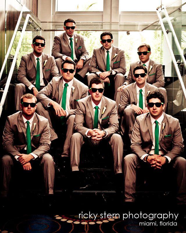 Fun groomsmen portrait photo before the wedding at the Eden Roc Hotel Miami Beach, FL.  www.miamiphotographer.net