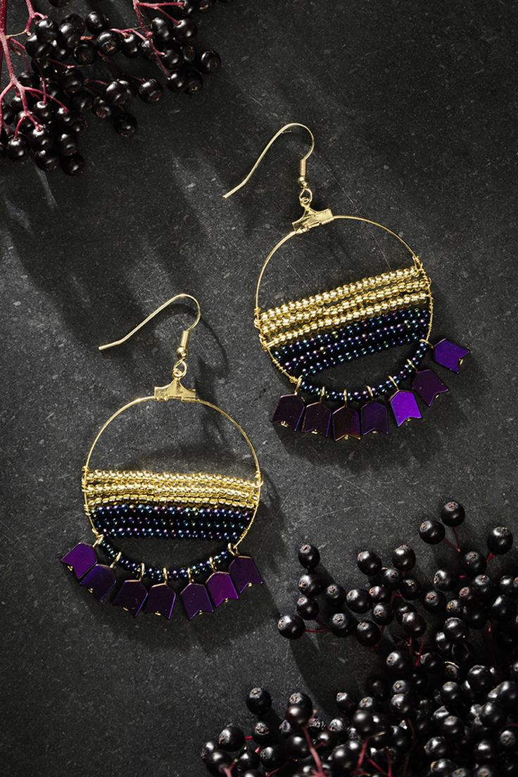 Rocaille earrings www.panduro.com Jewellery by Panduro #jewellery #jewelry #earrings #smycken #örhängen #rocailles #pärlor #beading #beads