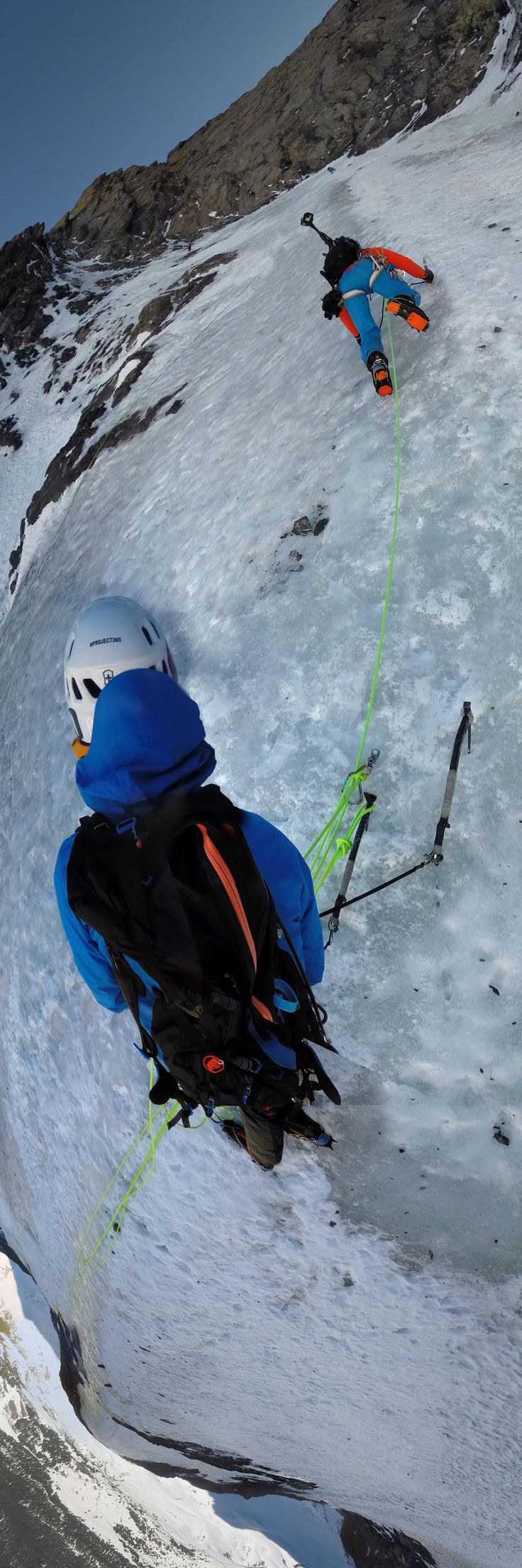 #PROJECT360 | The challenge: Make 6 outdoor cameras, a GPS Unit and a backpack work together for an unique interactive climbing experience. #mountaineering