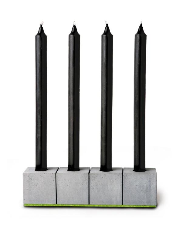 "Candlestick ""BLOCKvier"" for Dinner Candles"