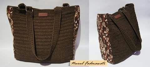 Crochet bag mixed with batik by Nurul Fadma