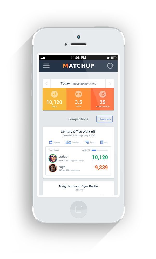 MatchUp | Friendly competition on FitBit, Pulse, JawBone up & Fuelband