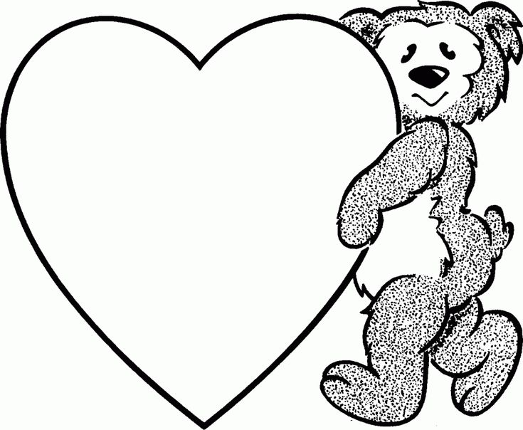 Valentine Heart Coloring Page