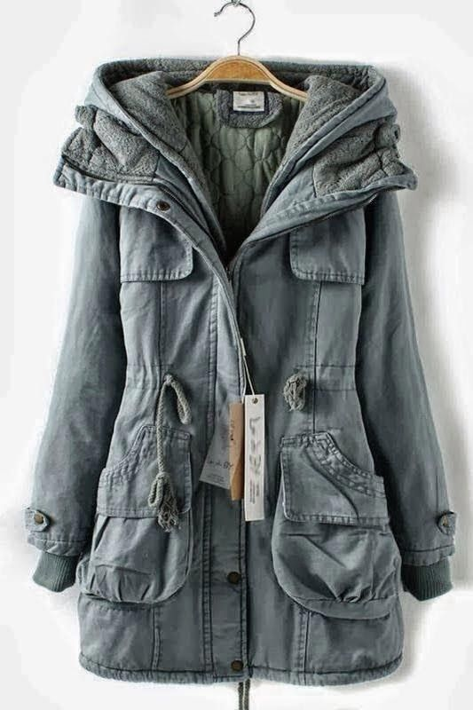 Adorable Warm Long Soft Hooded Double Deck Overcoat