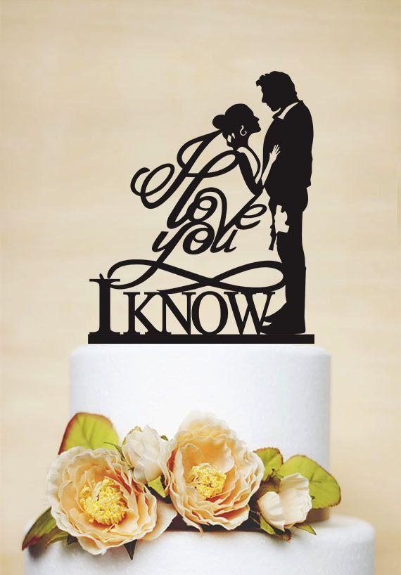 Star Wars Wedding Cake Topper I love you I by AcrylicDesignForYou