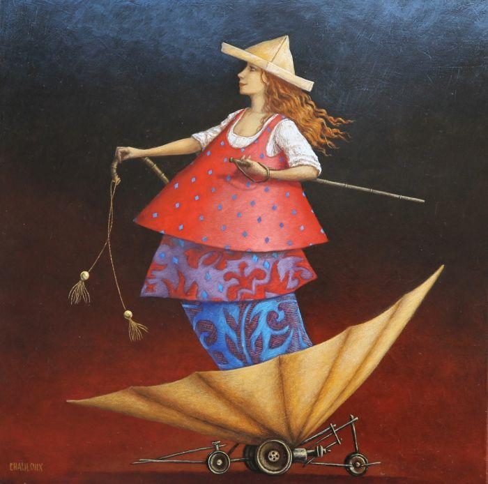 Catherine Chauloux Tant va le parapluie à l'eau (Dus gaat de paraplu naar het water)