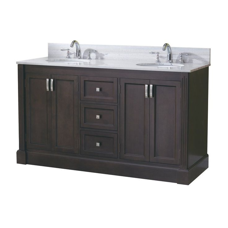 allen roth 61 in espresso kingsway traditional bath on lowes vanity id=48917