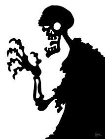 zombie halloween window silhouette printables