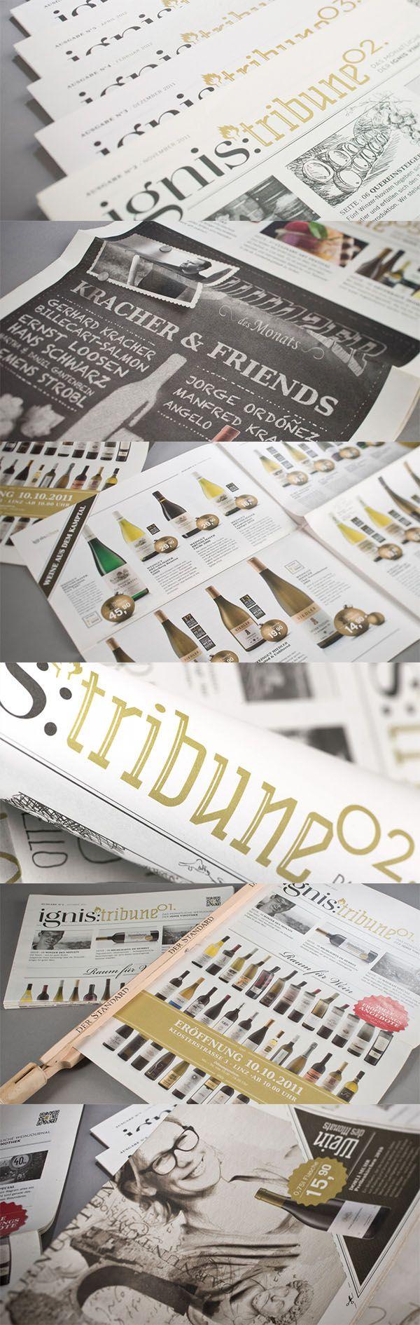 IGNIS VINOTHEKEN // Flugblatt www.lunik2.com #leaflet #print #branding #marketing #creative #wine #befirst