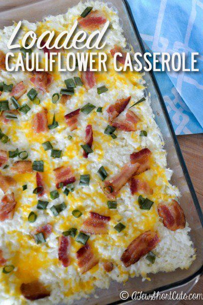 An amazing way to sneak those veggies in! You have to check out this Loaded Cauliflower Casserole Recipe. This is a perfect grain free side dish to bring to your next pot luck or bbq