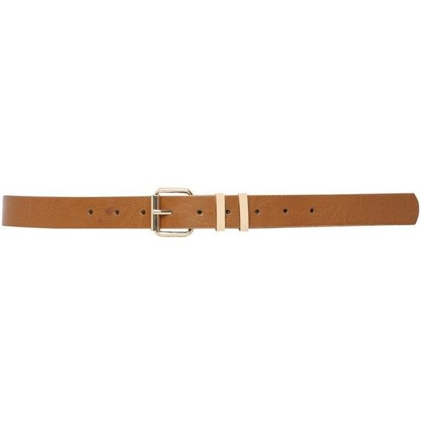 M&Co Plus Double Keeper Belt ($7.20) ❤ liked on Polyvore featuring accessories, belts, plus size, tan, m&co and tan belt
