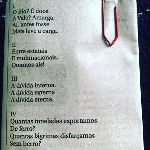 """""""Lira Itabirana"""", Carlos Drummond de Andrade, 1984.:"""