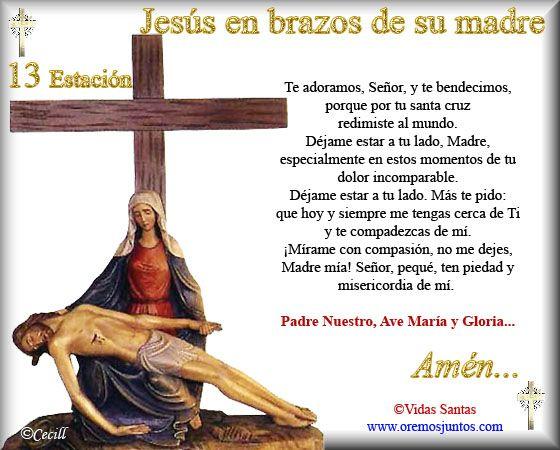 Imágenes de Cecill: Estaciones del Via Crucis † 13- Jesús en brazos de su Madre
