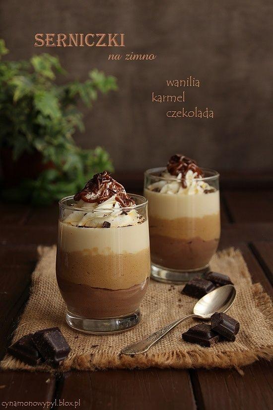 Serniczki na zimno - wanilia, karmel, czekolada