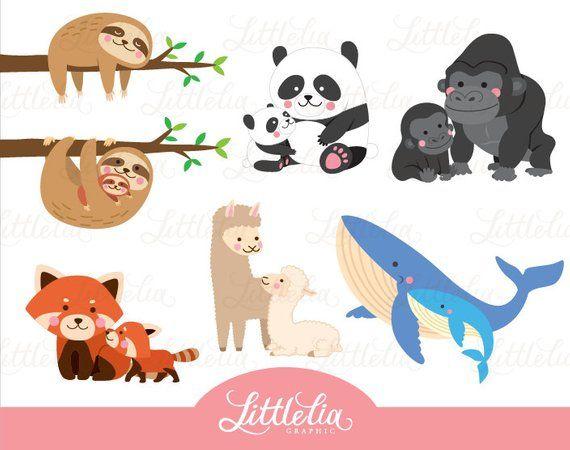 Mammal Mom And Baby Animal Family 16028 Etsy Animals For Kids Baby Animals Mammals