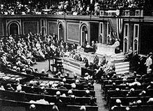 Predsjednik Wilson, prije zasjedanja  Kongresa, govori o raskidanju službenih  veza s Njemačkom, 3. veljače 1917.