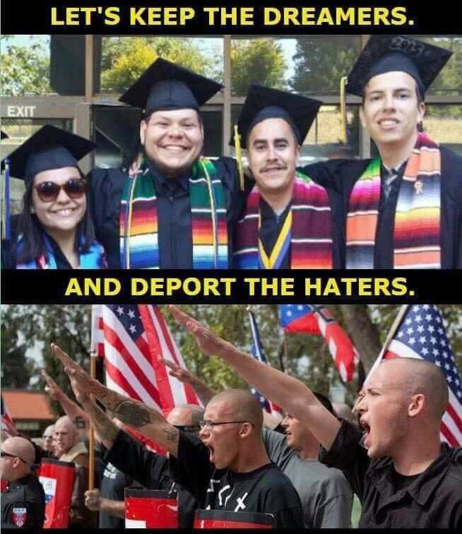 The Dreamers are crime free, educated, employed.... everything the haters aren't