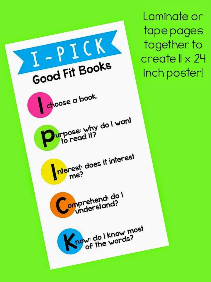 377 best Daily 5 images on Pinterest Beds, Reading and Guided - pick chart