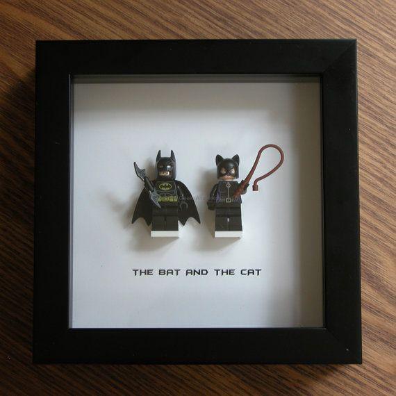 LEGO Wall Art Batman and Catwoman by GeeksAndNerdsStudio on Etsy