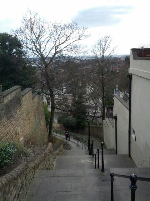 Park steps, Nottingham.