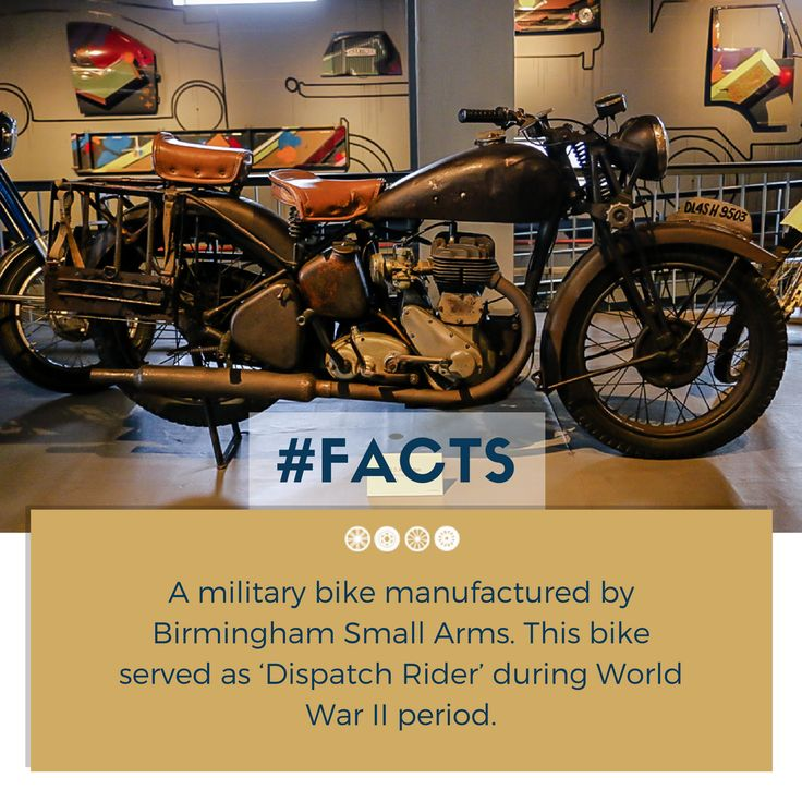 Here's a BSA Vintage Bike of the 1940s displayed at the two-wheeler section of the museum!  #factfriday #vintagebikes #transportmuseum #vintagevehicles #incredibleindia