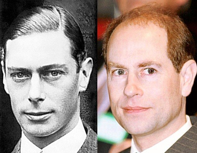 Throne Clones: King George VI and Prince Edward: By George! Prince Edward has inherited grandfather King George VI's (1895-1952) large ears
