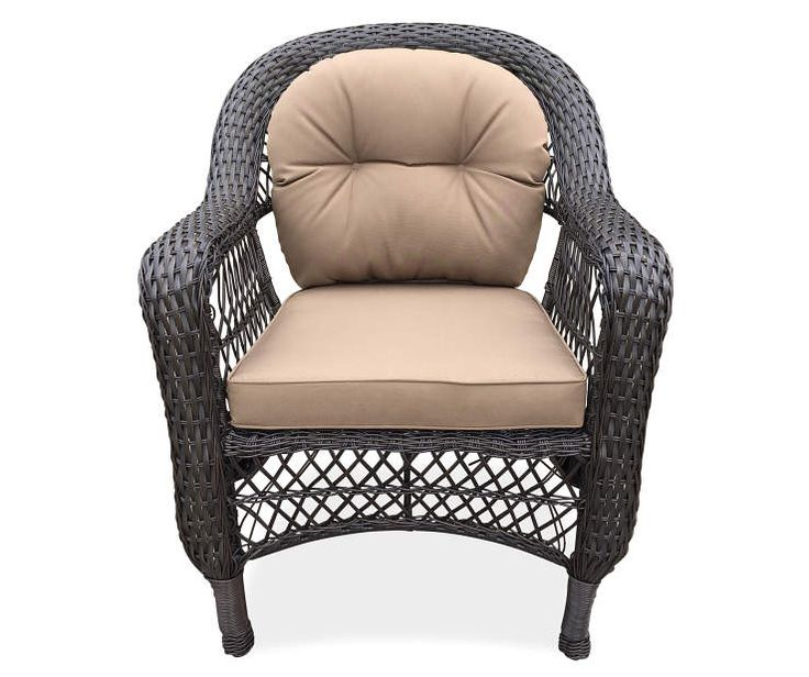 $74  Hampstead Resin Wicker Patio Chair at Big Lots.