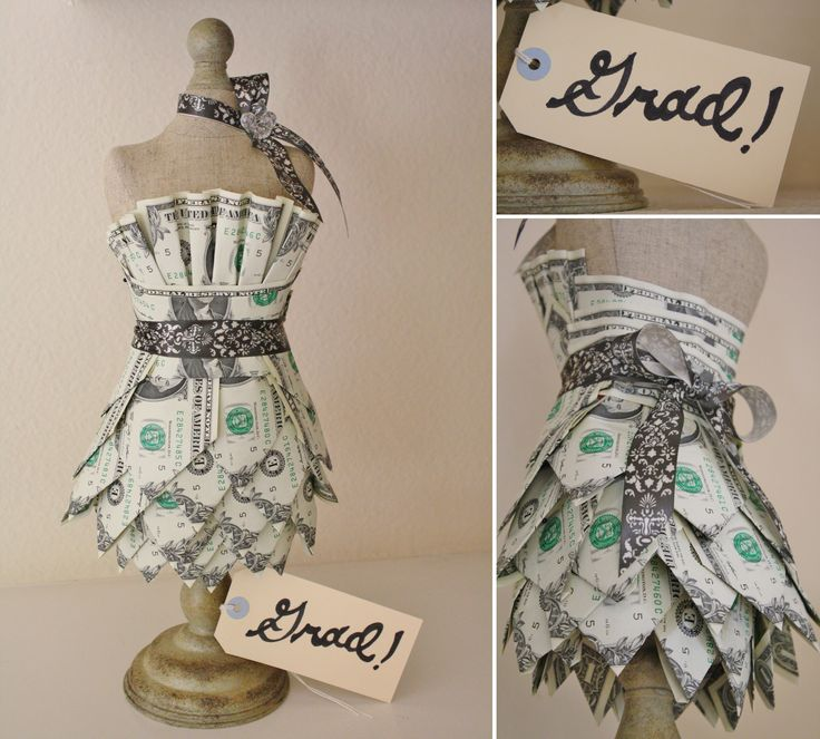 IMAGE ONLY ~ Money Dress! A fun way to give a graduate some cash without it being boring...