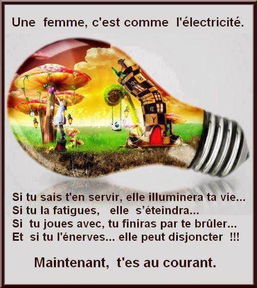 les femmes c'est comme l'électricité