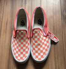 NEW Vans Classic Slip ON Womens Checkerboard Fusion Coral 9 5 Shoes | eBay