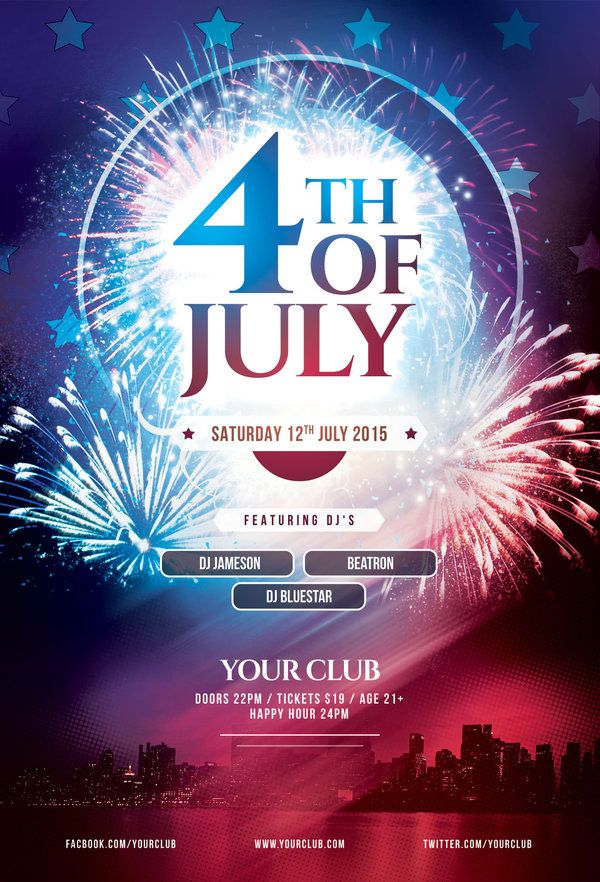 18 best 4th of july images on Pinterest Event flyers, Flyer