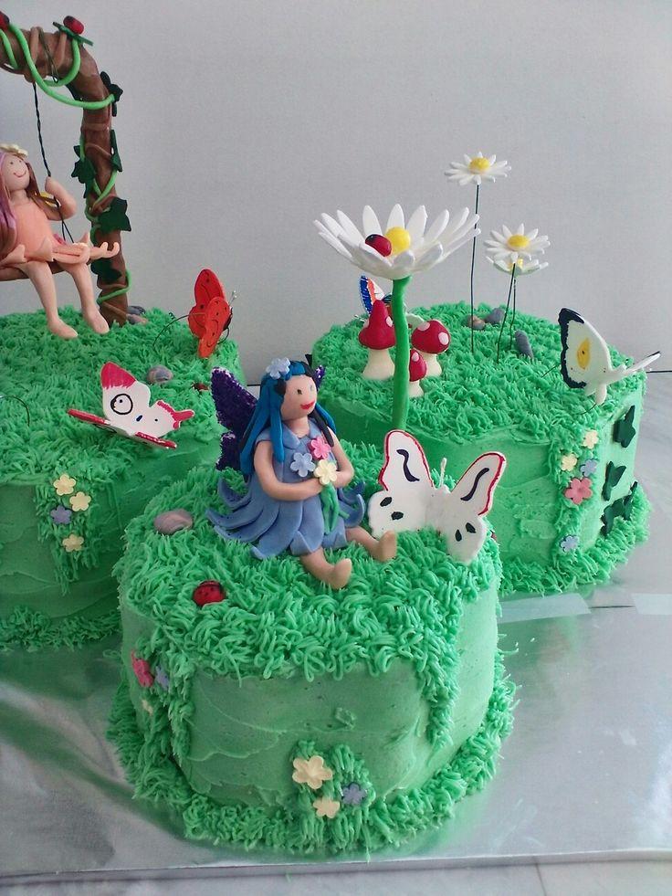 17 best ideas about fairy garden cake on pinterest for Fairy garden birthday cake designs