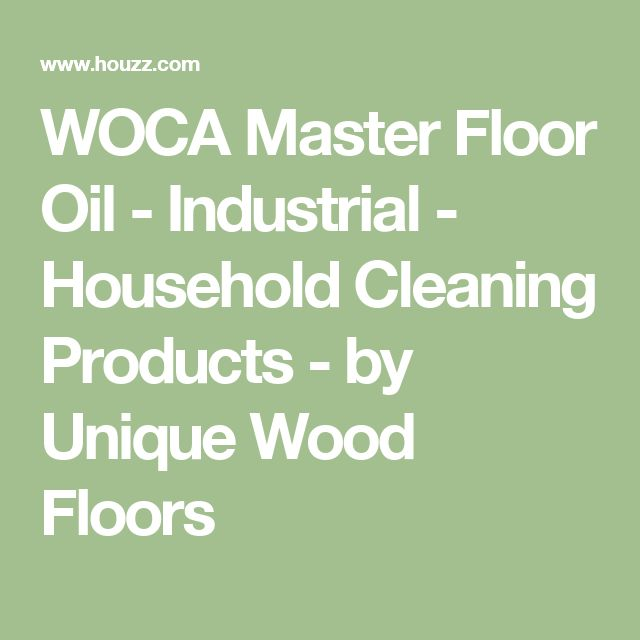 WOCA Master Floor Oil - Industrial - Household Cleaning Products - by Unique Wood Floors