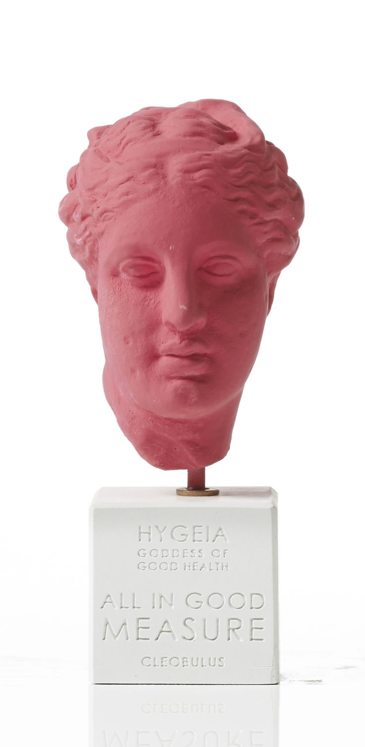 "Hygeia ""Health and mind are two wonderful things in life"" - Menander"