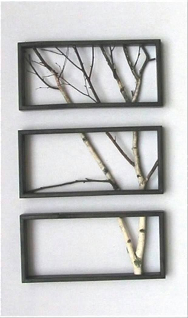 Kind of a neat idea to add something other than pictures to your walls.