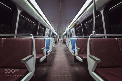 Lonely ride by mjleubecker  street travel underground subway metro street photography subway car washington DC WBPA mjleubecker