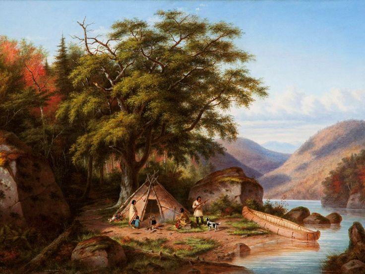 Indiens Chippewas, Lac Saint-Clair (ouest canadien), 1867